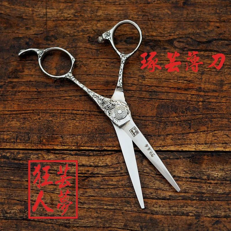 Fast shipping!! Professional hair cutting scissors 6 inch 440C Art Retro Thin blade high grade hairdressing barber scissors<br>