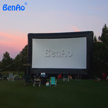 M019  LOWEST price Strong oxford cloth drive-in inflatable movie screen giant open air cinema screen for film festival