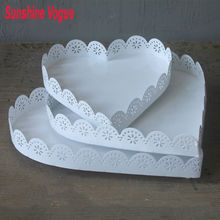 Macarons tray cupcake stand white iron heart shape dessert plate Home baking &pastry decoration supplier cake tools