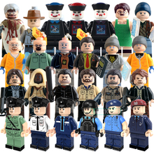 Educational Blocks Policeman The Walking Dead Breaking Bad DC Marvel Figures Super Heroes Star Wars Bricks Kids DIY Toys Hobbies