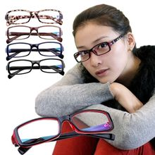 Fashion plain mirror black-rimmed glasses Vintage Clear Lens Metal Legs High Quality Unisex Plain Glasses Eyeglasses