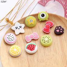 10 Pcs/set Cute home decoration PVC magnet fruit shape cute refrigerator magnet cute fruit new refrigerator magnet