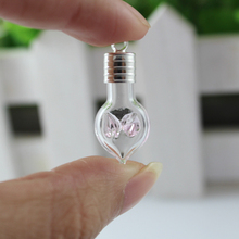 1PC 6MM Angel Pink ,glass vials pendants,Miniature Wishing Bottle Perfume glass bottle,Vial Jewelry wishing vials,DIY Bottles(China)