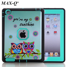 HOT! case For iPad 4 3 Cover Shockproof Kids Protector Case for apple ipad 4 3 2 case cover PC+TPU Hybrid w/Screen Film + Stylus