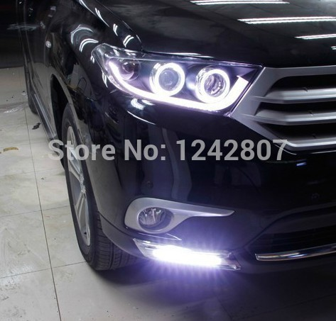 OsMrk DRL for Toyota Highlander Kluger 2012 2013  LED DRL led Daytime Running Light with auto dimmer control top quality <br><br>Aliexpress