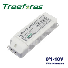 5PCS 10W 20W 30W 45W 0-10V PWM Dimmable Led Transformer Power Supply Dimming LED Driver Adapter(China)