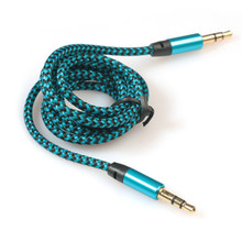 Hot Sale 3.5mm Stereo Car Aux Cable Auxiliary Audio Cable Male To Male for iPod for iPhone Smartphones #UO