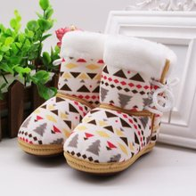 Children Winter Warm Baby Kids Boots Slip On Bootie Infant Toddler Girls Boys Soft Bottom Prewalker Shoes