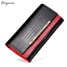 Women wallets women genuine leather wallets long design wallets mobile wallet(China)