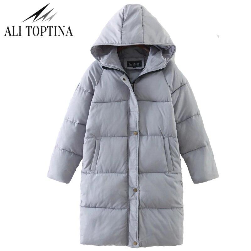 ALI TOPTINA Cotton-padded Girls Long Bread  2017 Overknee Thickening Women  Winter Loose Coat Female Down Cotton Jacket MF08Îäåæäà è àêñåññóàðû<br><br>