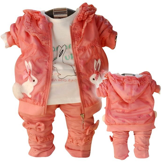 Anlencool New Spring and Autumn children suit lovely ladies wind baby clothing brand baby girl clothes sets baby suit<br>
