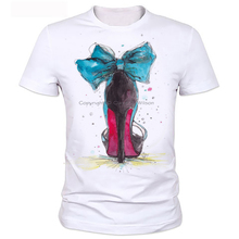 Paint printed heels personality men T-shirt summer men's fashion clothing manufacturers selling soft coat 2-1#