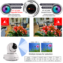 Wide FOV 2.8mm HD 3 Mega Pixel Lens Pan Tilt Wifi Network IP Camera Motion Sensitivity Adjustment & Sound Alarm Baby Monitor