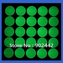 "Free Shipping: 2000 pcs/lot 1"" Round Clear Epoxy Sticker Glow-in-Dark Transparent Epoxy Resin Dome Circles for jewelry making(China)"