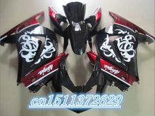 high quality black white red fairings Kawasaki Ninja 250R 2008 2009 2010 2011 2012 EX250 08-12 ZX 250R 2008 2009 2010 2011 2012