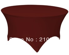Free Shipping 30pcs 5 ft. Round Stretch Table cover spandex table covers for weddings