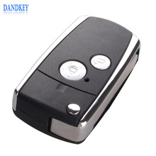 Dandkey 2 Buttons Modified Remote Black Flip Key Shell For Honda CIVIC CRV JAZZ ACCORD ODYSSEY(China)