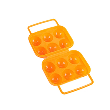 Tenske small plastic boxes 2017 Portable 6 Eggs Plastic Container Holder Folding Egg Storage Box Handle Case*30 GIFT Drop