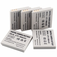 Wholesale 900mAh li-ion 5 Pcs NB-4L NB4L digital camera battery For Canon 220 HS Digital 100 IS 120 30 PowerShot SD200 IXUS 130