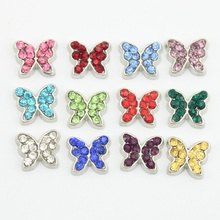 Buy Butterfly Floating Charms Crystal 12 Mix Colors Birthstone Charms Fit Glass Living Memory Locket 120pcs for $12.35 in AliExpress store