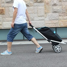 Shirt Shopping Cart Buy Trolley Trolley Folding Trolley Aluminum Alloy Portable Trolley Baggage Trailer