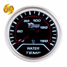 "Dragon Gauge Water Temp Car Gauge 2"" 52mm 40~150 Celsius Temperature Mechanical Meter Black Dial Face Silver Bezel 12V Auto(China)"