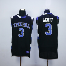 Horlohawk 2017 New Lucas Scott #3 One Tree Hill Ravens Basketball Jersey All Sewn-Black(China)