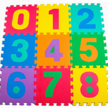 10Pcs/lot Baby Play Crawling Mat Floor Puzzle Children Educational Foam Puzzle Jigsaw Mat Eva Square Foam Mat Toys For Kid Room(China)