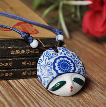 Atreus Ceramic Necklace Pendants New Fashion Vintage Handmade Lovely Heads Jewelry Accessories Wholesale Gifts For Lovers(China)