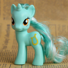 8cm horse toy doll Girl plastic toy doll ornaments full set soft horse Figure Doll Christmas birthday girl gift toys(China)