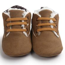 winter baby shoes pu Leather Toddler boy girl first walker imiation fur Soft Warm Sole footwear Infant Boy Girl Toddler Shoes