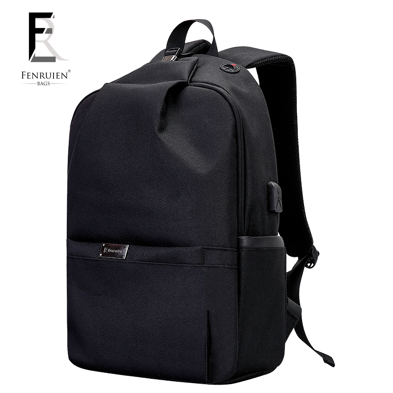 FRN Business Antitheft Terelene 15.6 Laptop Backpack Men Waterproof Vogue College Student High School Casual Travel Backpack<br>