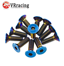VR RACING- 6PC/LOTS Titanium Burnt Steering Wheel Bolts Fit a lot of steering wheel Works Bell Boss Kit VR-LS06T