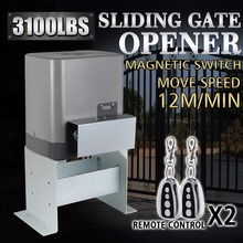 Motor Powered Automatic Sliding Gate Opener + Remote Controllers