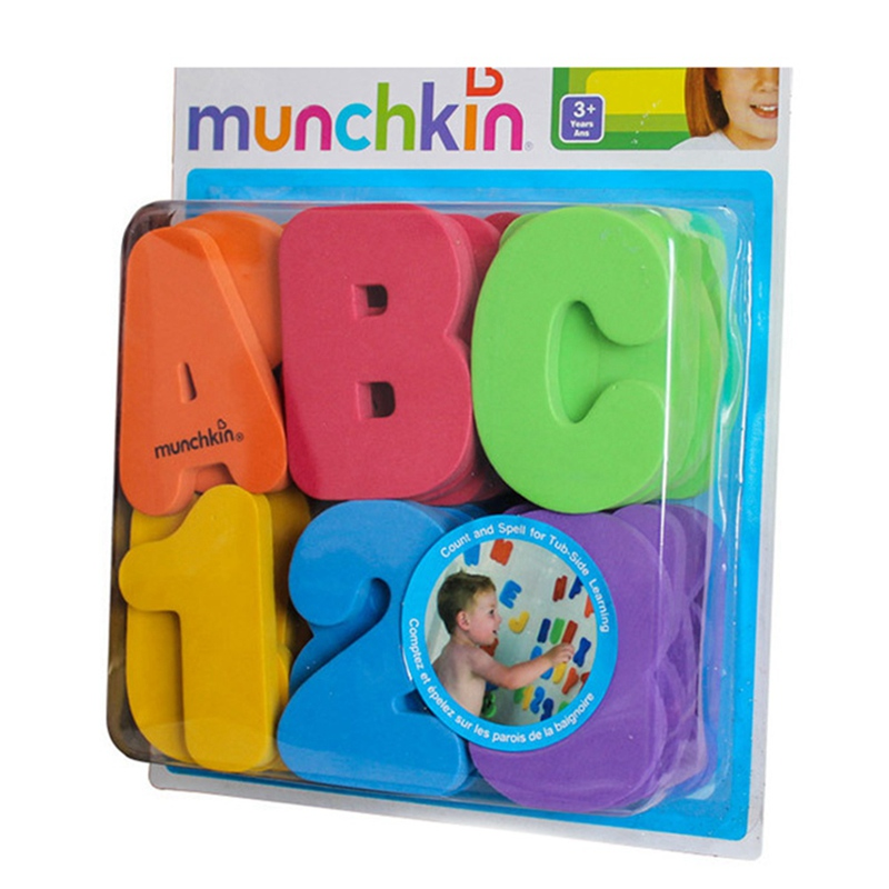 36pcs Baby Kids Toddler A-Z 0-9 EVA Letters Numbers Floating Bath tub Stick Toy