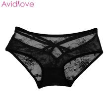 Buy Avidlove Sexy Babydoll Lingerie Erotic Women Black Lace Plus Size Costume Sleepwear Transparent Hollow-out Chemise Underwear