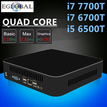 Eglobal Intel Quad Core i7 7700T 6700T i5 6500T High-end Mini PC Gaming Computer Nettop 1*HDMI 1*VGA 5G AC Wifi Bluetooth 4.0(China)