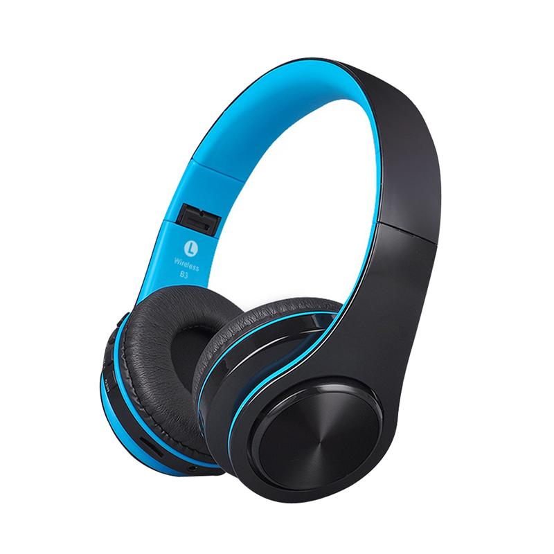 Wireless Muti-function Bluetooth 4.1 Version Headphone Headset Over Ear Foldable Stereo Soft Protein Earmuffs Supprot TF Card<br>