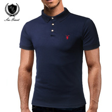 Fashion Brand Boss Man Polo Shirt Short Sleeve Casual Solid Color Button Slim Fit Cotton Male Dress Clothing Polo Shirt For Men(China)