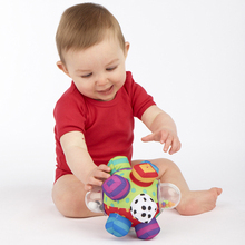 Candice guo! Sassy baby toy plush grasping ball colorful multi-touch ball rattle birthday gift 1pc