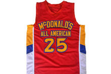 Derrick Rose #25 McDonald's All American Men Basketball Jersey Red Embroidery Stitched Custom any Number and name Jerseys
