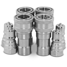 "4 Sets of 1/4"" NPT ISO 7241-B Quick Disconnect Hydraulic Couplings / Couplers(China)"