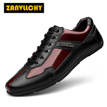 ZANVLLCHY Men Sneakers 2017 New Genuine leather Comfortable Walking Shoes Outdoor Men Athletic Shoes Big Size 37-48