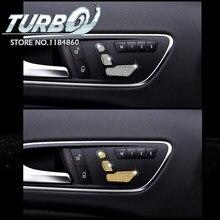 3PCS set For Mercedes Benz GLA class 200 220 Car Styling Rhinestone Car  Driver Side Seat Adjustment Button Key Cover Sticker f13f76fc7470