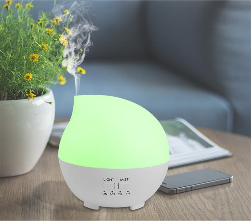 2017 New Arrival Water Drop Style Humidifier Aroma Diffuser 7 Colors Time Changing Night Light Household Office Air Conditioner<br>