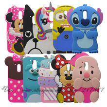 3D Cartoon Minnie Stitch Cupcake Silicon Cover For Motorola Moto G4 plus G 4 Casing Rubber Phone Case For Moto G4 Back Cover