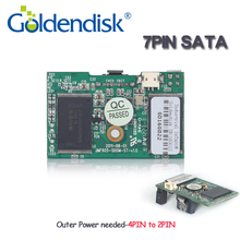 Goldendisk 64GB SATA II SSD DOM Moule MLC Flash disk On 7pin SATA Connector Memory cards Quad Channels For Xbox/Thin Clients