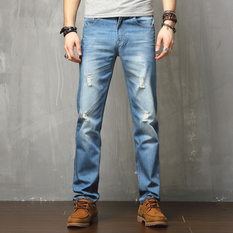 2017 Italy Ripped Jeans For Mens Marque  Luxe Simply Straight Male Men Denim Jeans High Quality  Jeans Biker JeansОдежда и ак�е��уары<br><br><br>Aliexpress