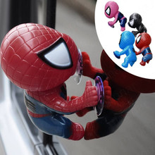Automotive Interior Car Cartoon Sucker Spiderman Doll Ornaments Climbing Spiderman Window Sucker For 4 color(China)