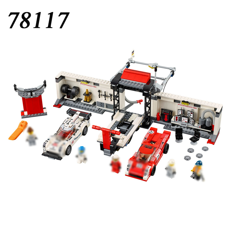 DECOOL 78117 749pcs Technic Super Speed 919 Racing Car Sportscar Tuning Maintenance Repair Station Building Block Brick Toy<br>